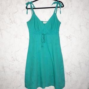 Esprit Linen Blend Sleeveless Blue V-Neck Dress 8